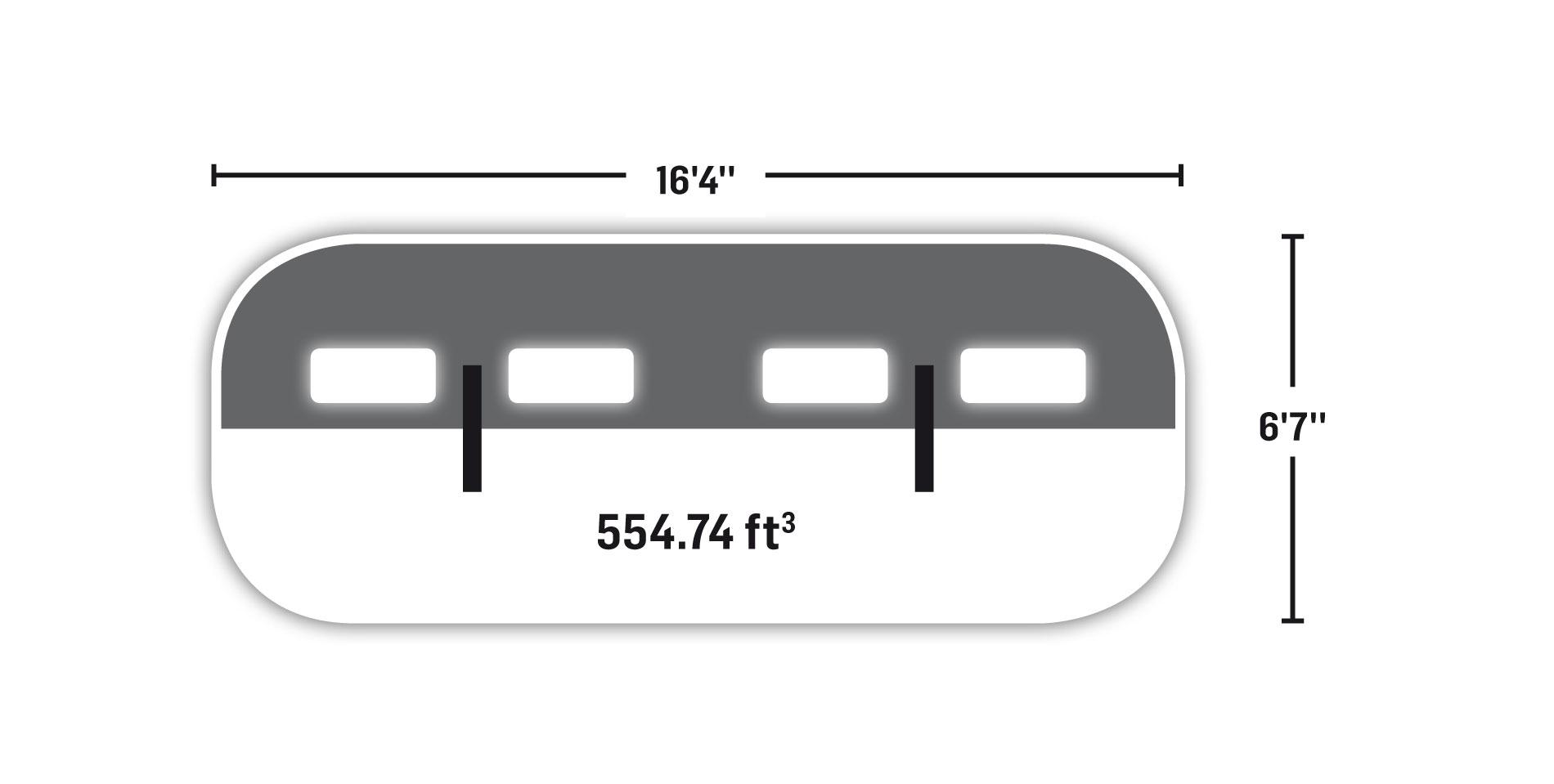 Tube 6' x 16'