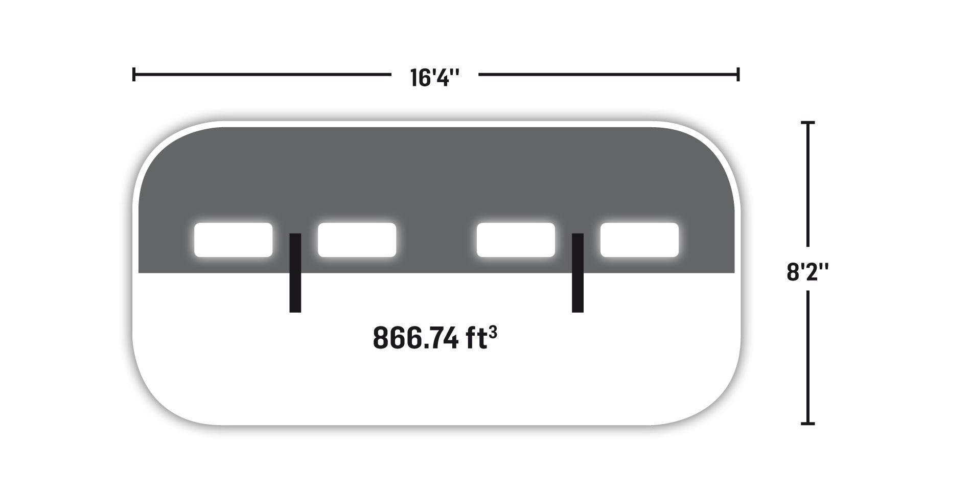 Tube 8' x 16'